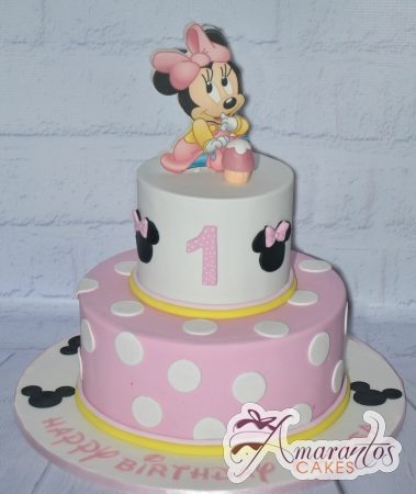 Two Tier Minnie Cake - Amarantos Custom Made Cakes Melbourne