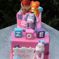 Winnie the Poo Bear Cake - Amarantos Cakes Melbourne