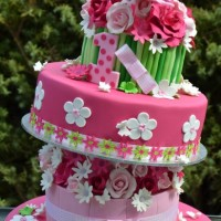 Three tier Floral cake - Amarantos Designer Cakes Melbourne