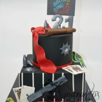 Two tier Gatsby theme cake - Amarantos Designer Cakes Melbourne