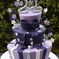 Three Tier 21st Birthday Cake - Amarantos Designer Cakes Melbourne