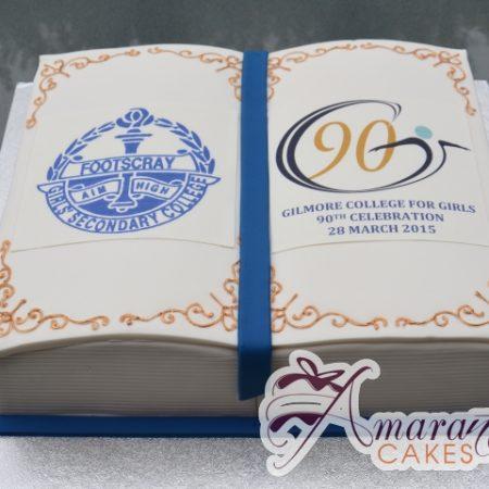 Footscray Corporate Logo Cake - Amarantos Designer Cakes Melbourne