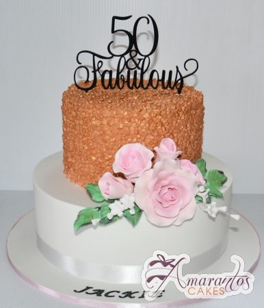 Extravagant 50th Birthday cake