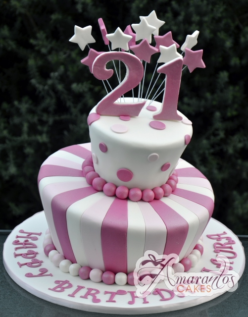 Two tier Mad Hatter AC244 Amarantos Cakes