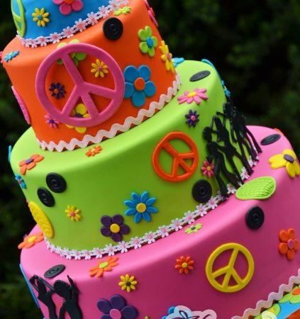 Three tier hippie cake - Amarantos Designer Cakes Melbourne
