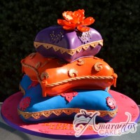Three Tier Moroccan Themed Cake - Amarantos Cakes Melbourne