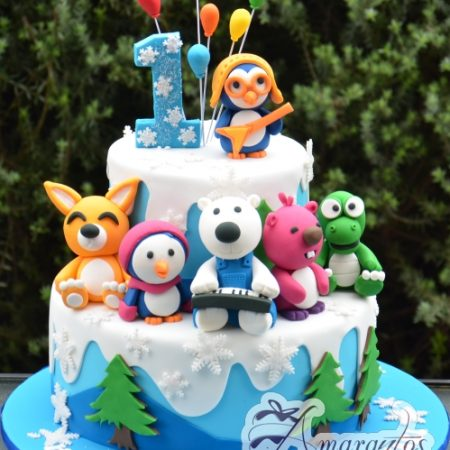 Pororo the little penguin - Amarantos Designer Cakes Melbourne