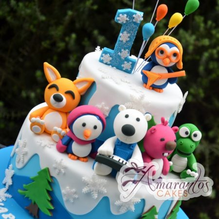 Pororo and Friends kids cake - Amarantos Designer Cakes Melbourne