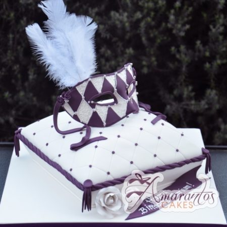 Mask on Pillow - - Amarantos Designer Cakes Melbourne