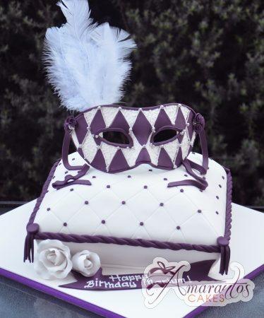 Masquerade Design - Amarantos Designer Cakes Melbourne