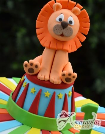 Circus cake with lion - Amarantos Designer Cakes Melbourne