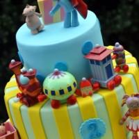 Two Tier Cake With In The Night Garden Figures - Amarantos Designer Cakes Melbourne