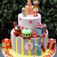 Two Tier With In the Night Garden Cake - Amarantos Designer Cakes Melbourne