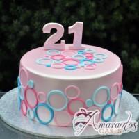 Pink and Blue Cake - Amarantos Designer Cakes Melbourne