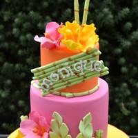 Two Tier Tropical Design Cake - Amarantos Custom Made Cakes Melbourne