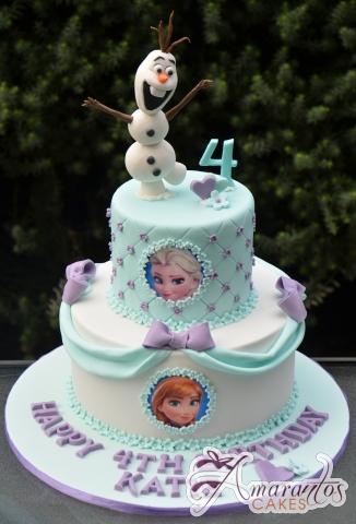 Two tier Frozen Cake – AC316 – 1st Birthday Amarantos Cakes
