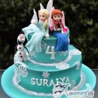 Frozen 3D Two tier Cake - Amarantos Designer Cakes Melbourne