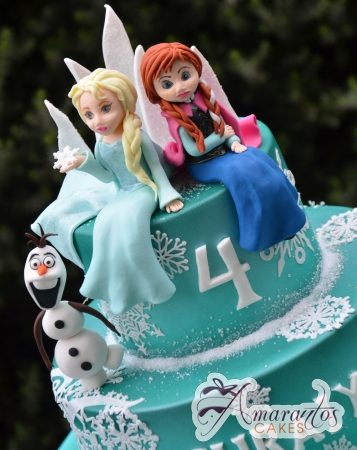 Frozen 3D Cake - Amarantos Designer Cakes Melbourne