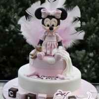 Two Tier With Minnie Cake - Amarantos Cakes Melbourne