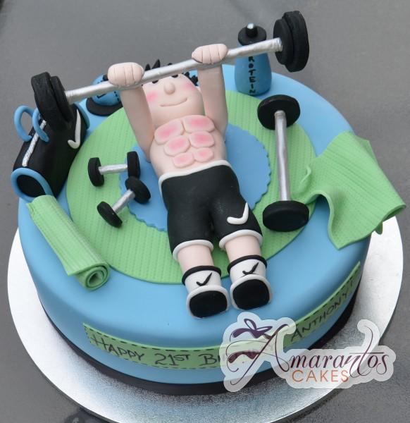 Cake Designs For Gym : Gym Theme Cake- NC312 - Amarantos Cakes