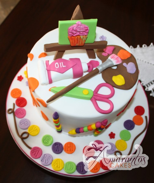 Birthday Cake Art And Craft : Art & Craft Cake - NC325 - Amarantos Cakes
