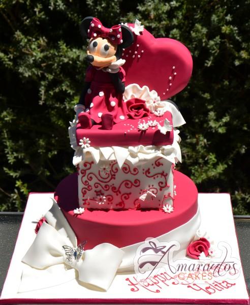 Two tier minnie cake NC326