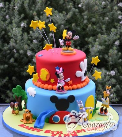 Two tier Mickey Cake - Amarantos Cakes Melbourne