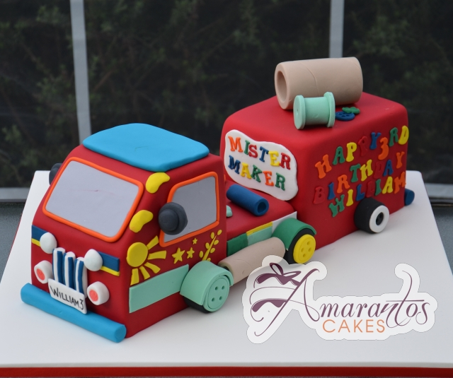 Cake Tv Show Reviews : 3D Mister Maker truck- NC566 - Amarantos Cakes