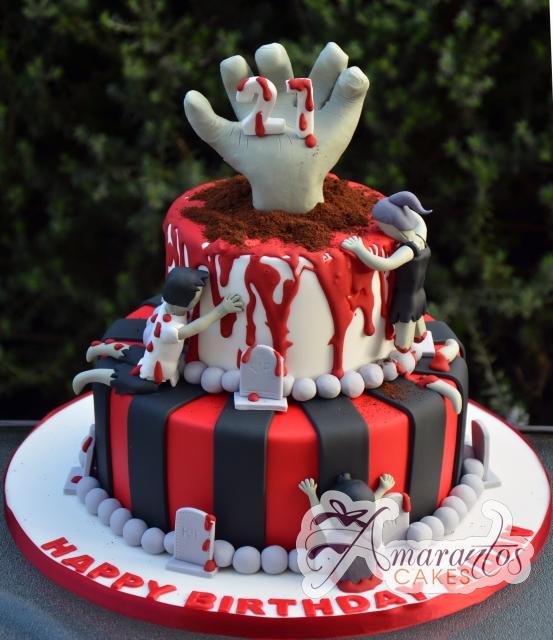 Zombie Cake – NC578 – Amarantos Celebration Cakes Melbourne