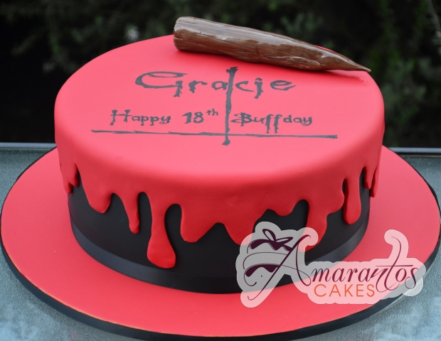 Buffy Themed Cake NC Amarantos Cakes - Slayer birthday cake