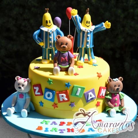 Base with Bananas in Pyjamas – NC651 – Amarantos Celebration Cakes Melbourne