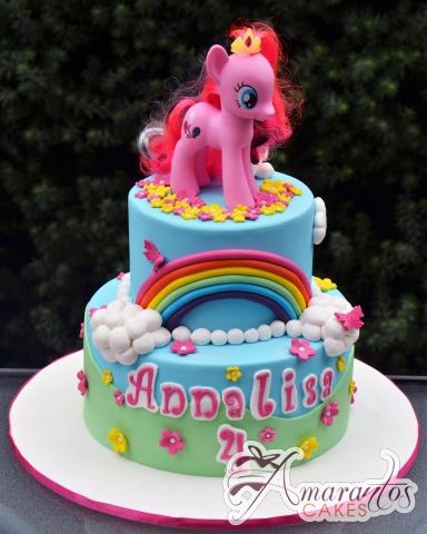 Two Tier My Little Pony Cake NC672 Amarantos Cakes