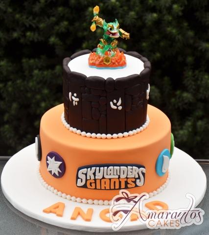 Two tier Skylander Cake – NC681 – Amarantos Celebration Cakes Melbourne