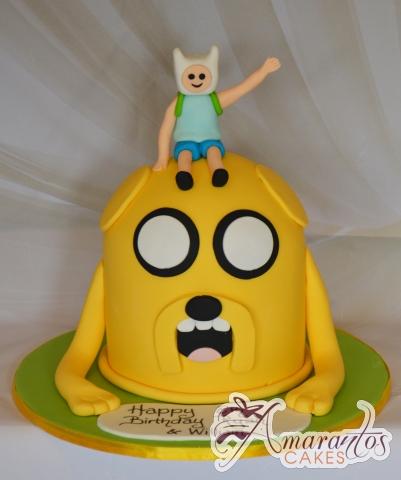 Jake the dog cake with Finn – NC683 – Celebration Amarantos Cakes