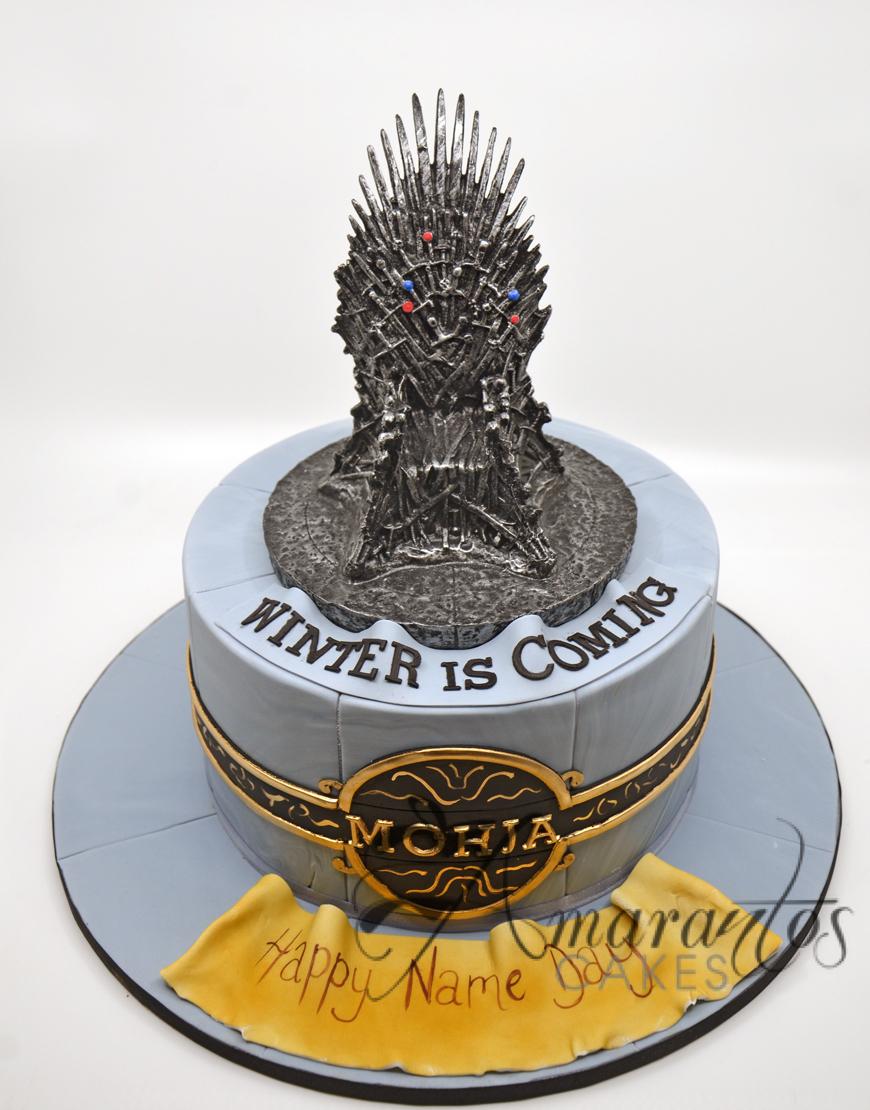 Game of Thrones Cake – NC716 – Amarantos Celebration Cakes Melbourne