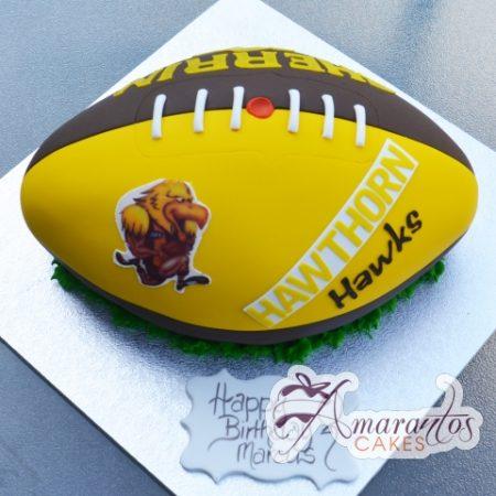Hawthorne Hawks AFL Birthday Cake - Amarantos Designer Cakes Melbourne