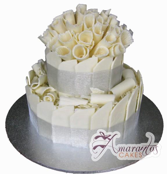 Two tier Cake – WC100 – Amarantos Wedding Cakes Melbourne