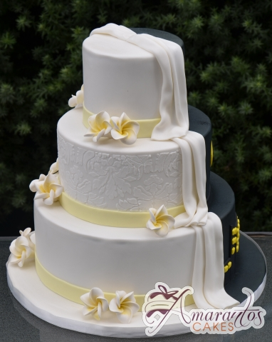Three Tier Half And Wedding Cake