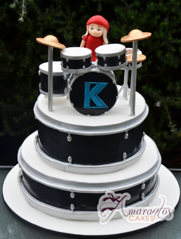 Two Tier Drums Cake