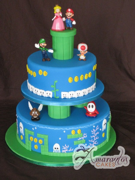 mario bros wedding cake two tier mario wedding cake wc190 amarantos cakes 17142